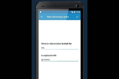 Smart Replacement Dictionary